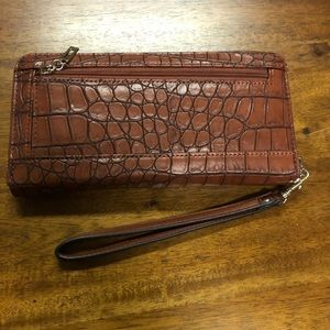 Guess Bags - Guess brown wristlet